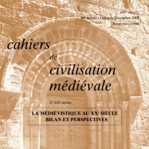 Cahiers de civilisation médiévale (revue)   Centre d'études supérieures de civilisation médiévale (Poitiers)