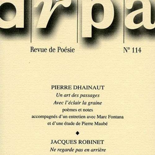 ARPA (revue) : cahier de recherche poétique | Siméon, Roger. Directeur de publication