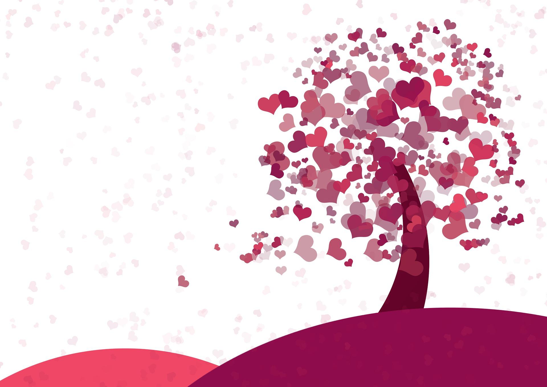 Création d'un arbre à coups de coeur – à partir de 6 ans  